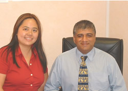 Angela Ang with Jim Uppal, Director of Claim Link, Wolverhampton and Birmingham