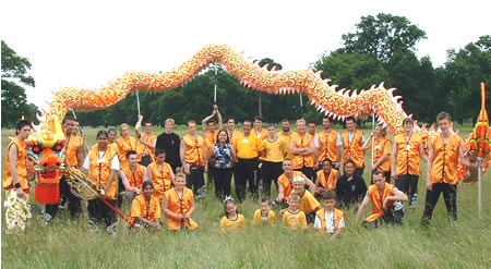 Nam Yang Dragon dancers in Bushey Park 2002