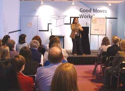 Angela speaking for the BBC Good Moves Workshop at the BBC Good Homes Show