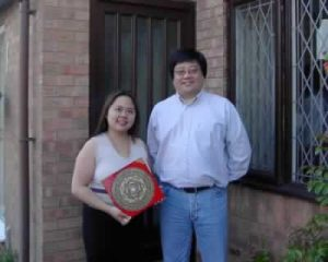Angela Ang and Tet Ho at a Feng Shui consultation in Grimsby