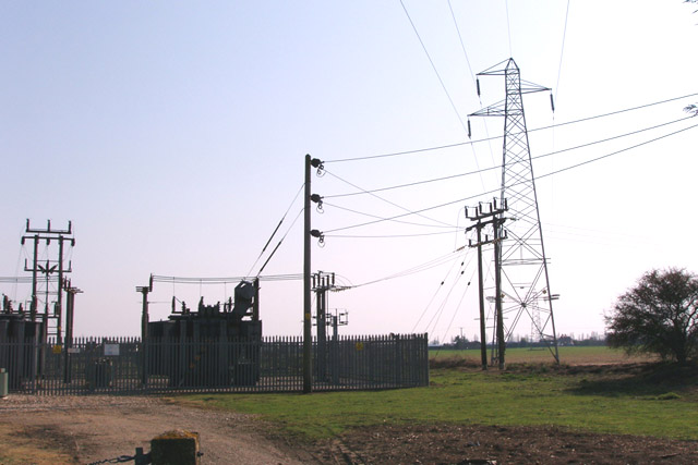 Foxash power substation © Copyright Liz McCabe and licensed for reuse under this Creative Commons Licence