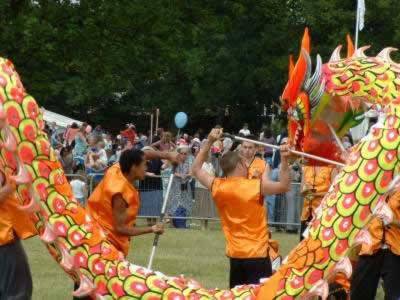 Nam Yang Kung Fu perform a Dragon Dance for the Jubilee Celebrations