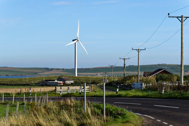 Wind turbine near house