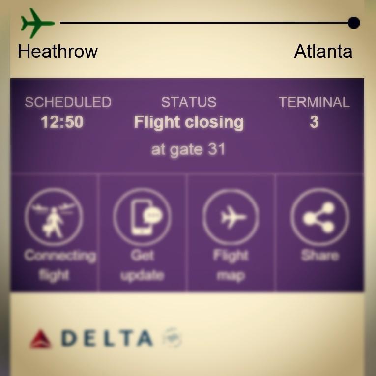 Boarding Heathrow to Atlanta