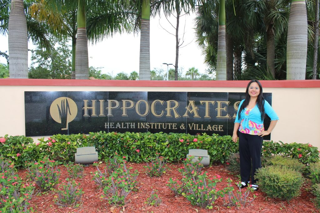 Angela at the Hippocrates Health Institute, West Palm Beach, Florida, USA