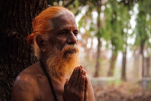 An Indian holy man or yogi