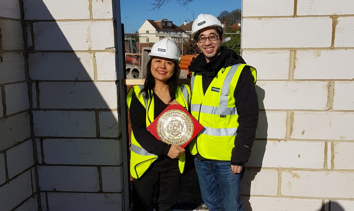 Feng Shui Master Angela Ang on site at a consultation